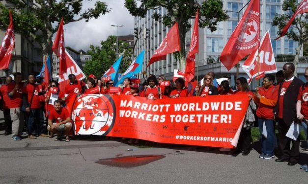 Actuación sindical internacional contra el acoso sexual en Marriot