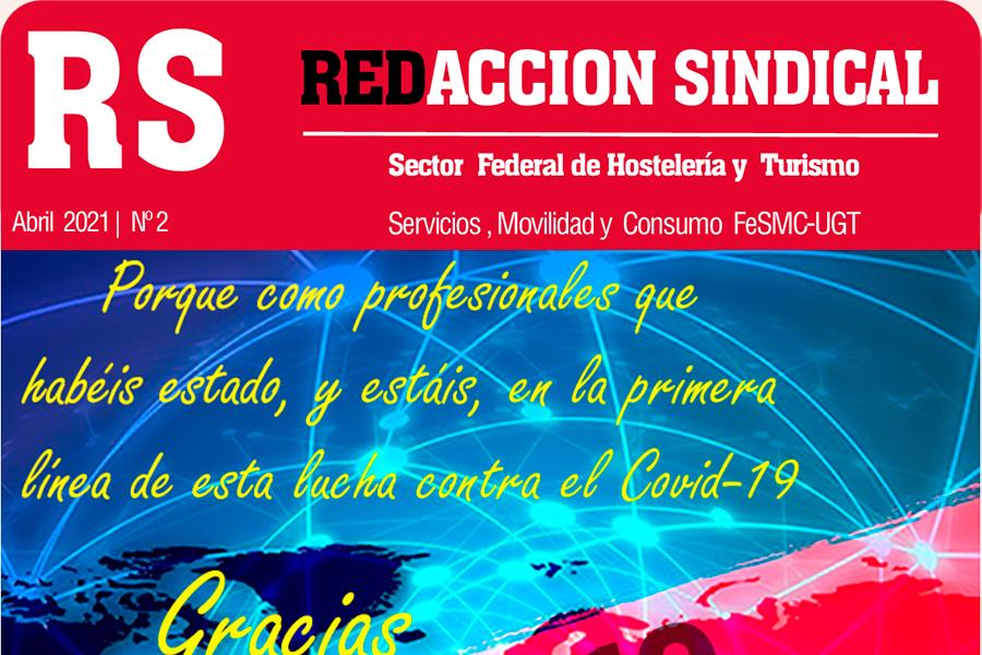 Accede a leer el número 2 de Redacción Sindical del sector de Hostelería y Turismo