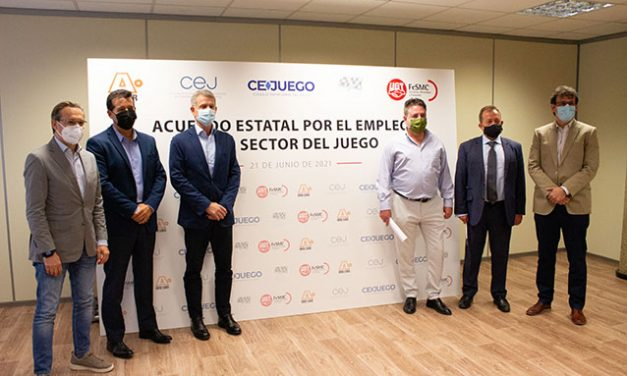 Asociaciones empresariales y UGT firman el acuerdo estatal para la protección del empleo en el sector del juego