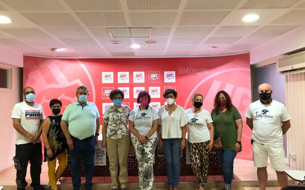 Las Kellys Unión Malaga formalizan la unidad de acción con UGT Málaga