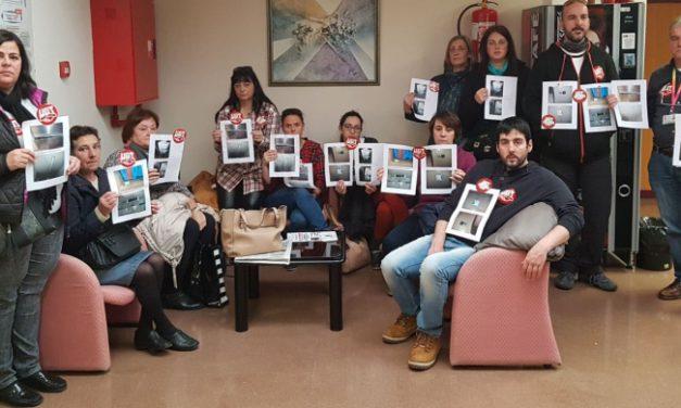 Protesta de la Cocina y Cafetería de Sierrallana por la falta de personal